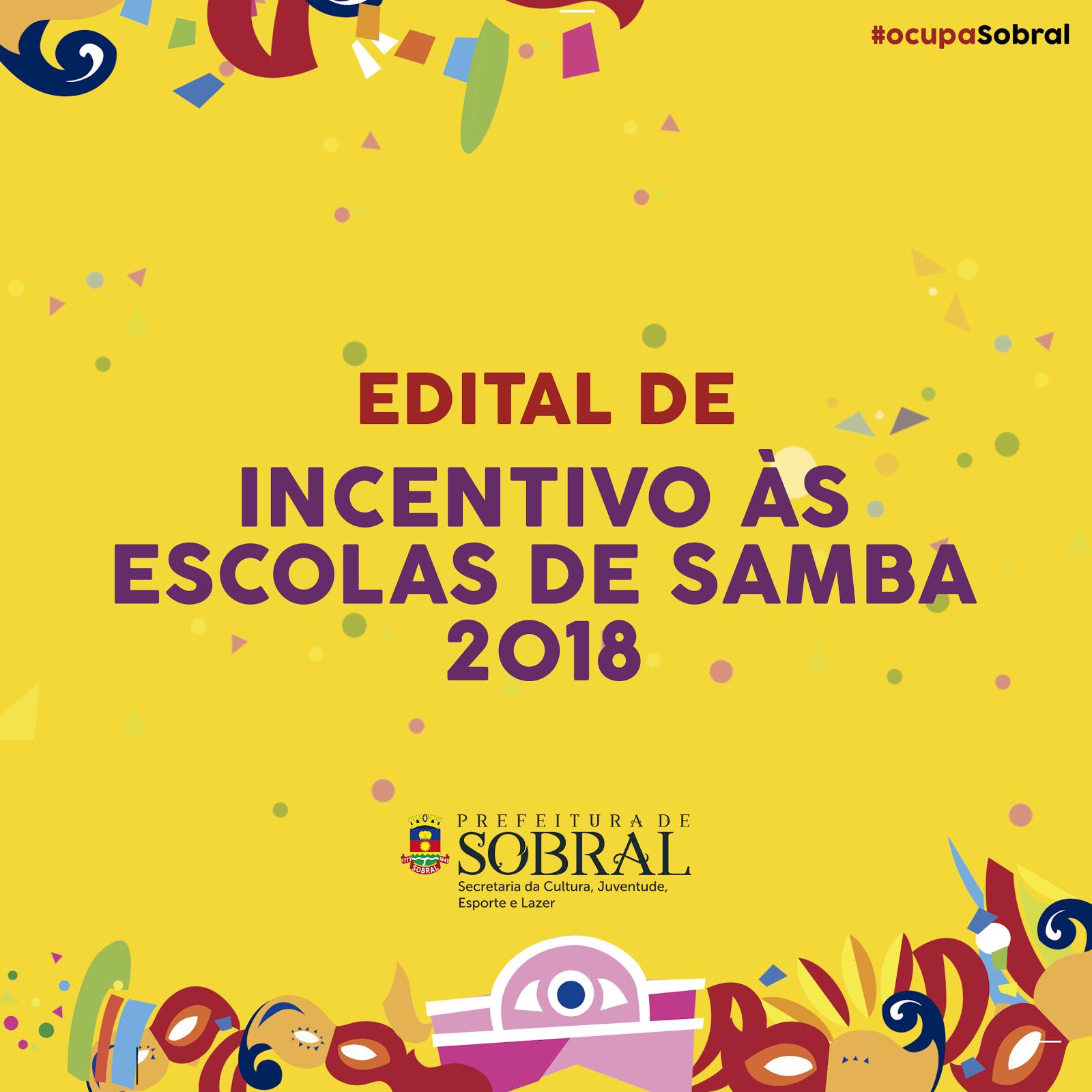 b862a060a A Prefeitura de Sobral, por meio da Secretaria da Cultura, Juventude,  Esporte e Lazer (Secjel), torna pública a realização do edital nº 001/2018  de ...