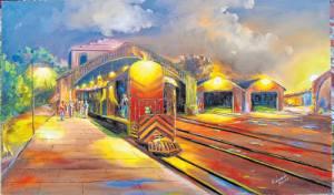 """1d23becda A Galeria ExpoArte do North Shopping Sobral recebe durando o mês de janeiro  a exposição """"40 anos do Último Trem – Ferrovia Cearense"""" doartista Elenildo  ..."""